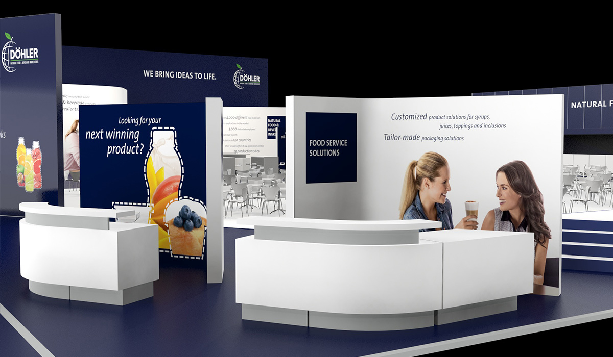 Exhibition Booth Website : Tmc website döhler anuga booth design